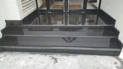 Granite black polish steps in the office building (1)