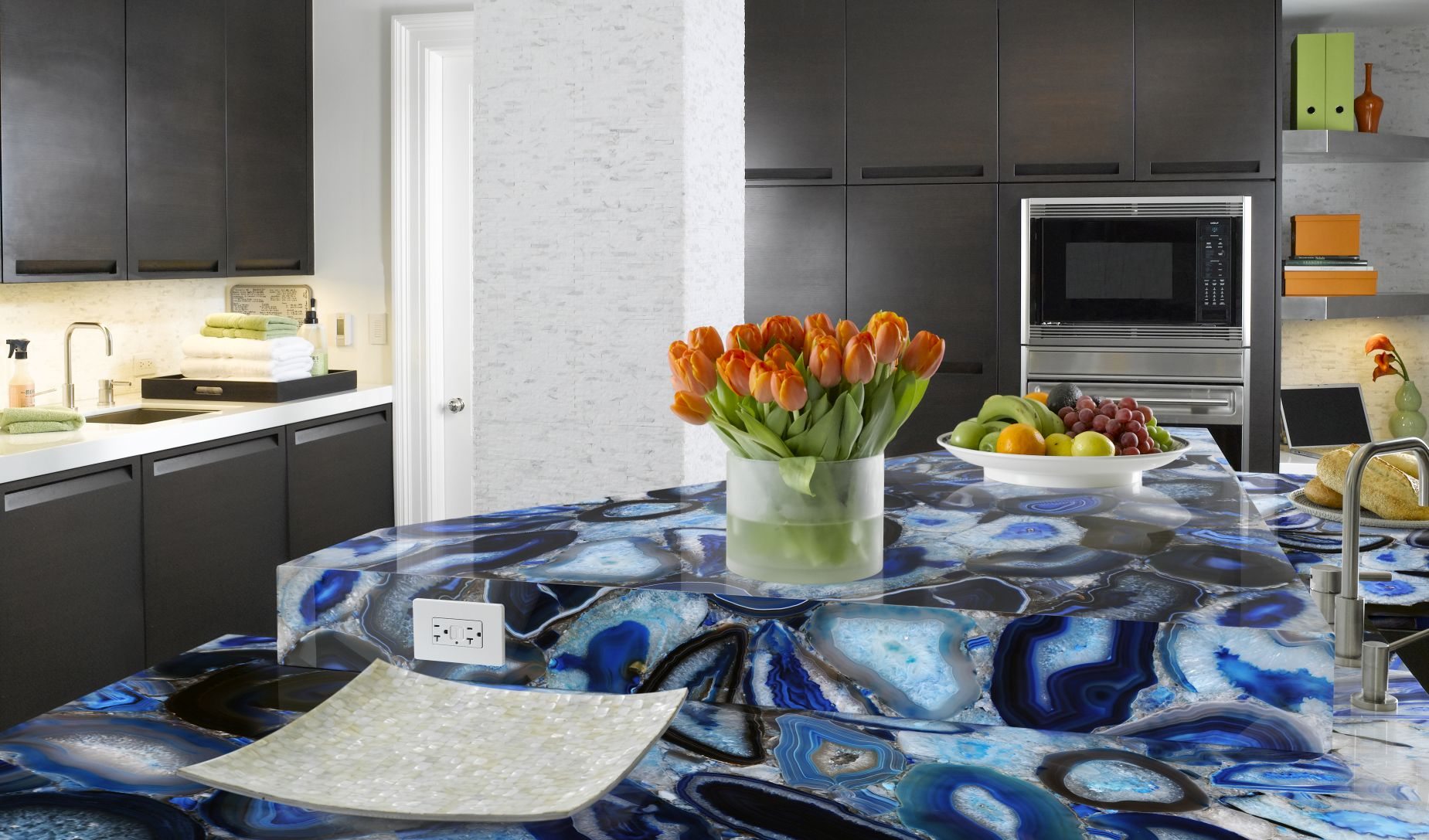 agate blue kitchen countertops