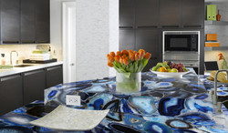 agate blue kitchen countertops