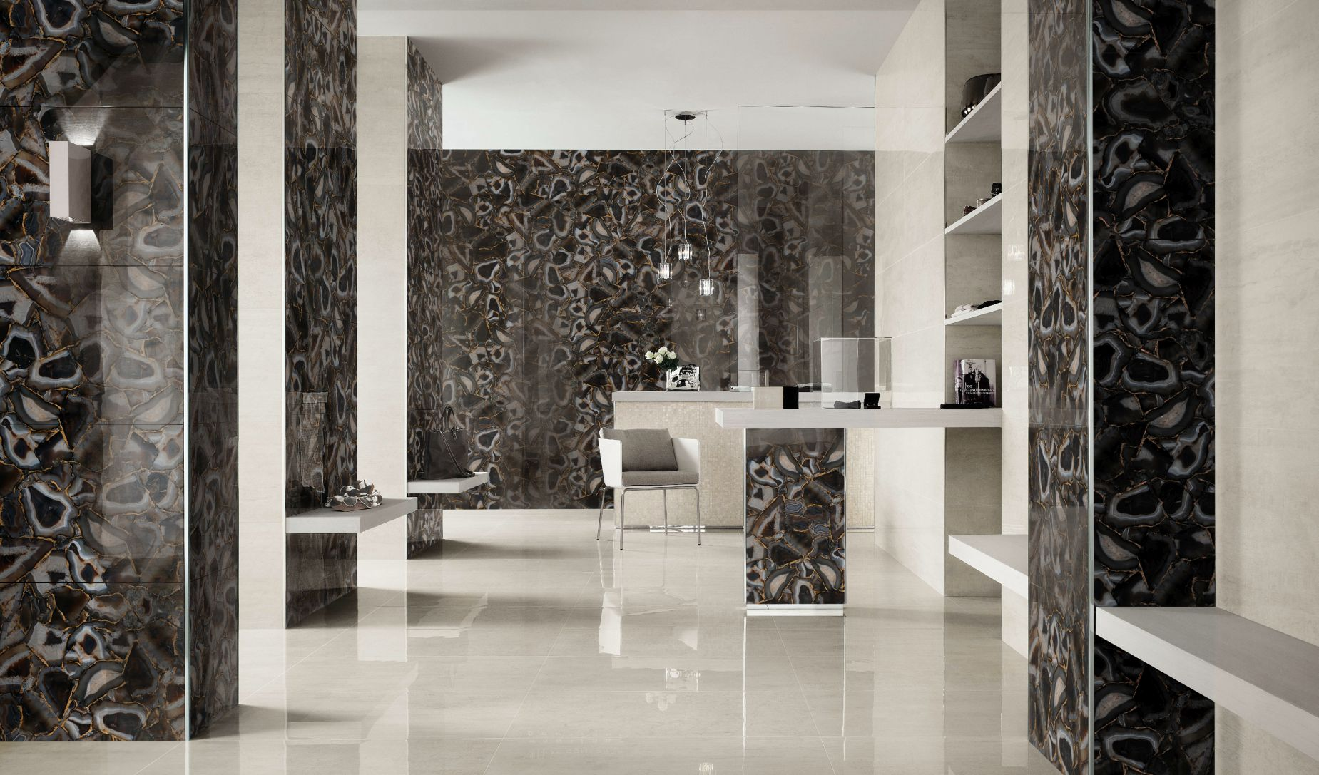 agate umbra with gold bathroom