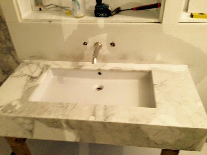 Calacata Oro marble bathroom vanity in London (5)