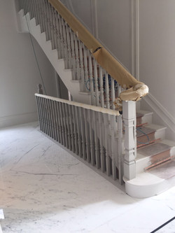 Statuario mable bookmatch flooring in London  (5)