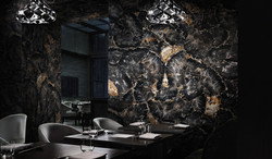 petrified wood wall coverings restaurant