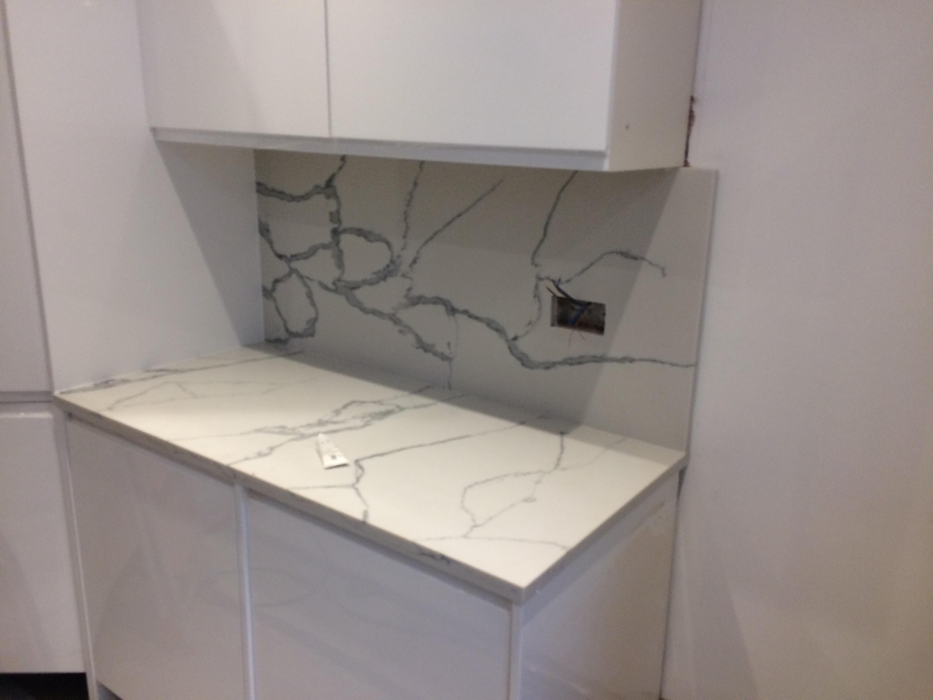 Statuario Quartz Kitchen top (6)