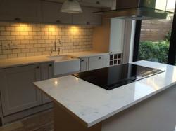 Carrara Quartz Kitchen worktop in London (2)