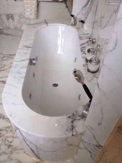 special panelling on bathtub
