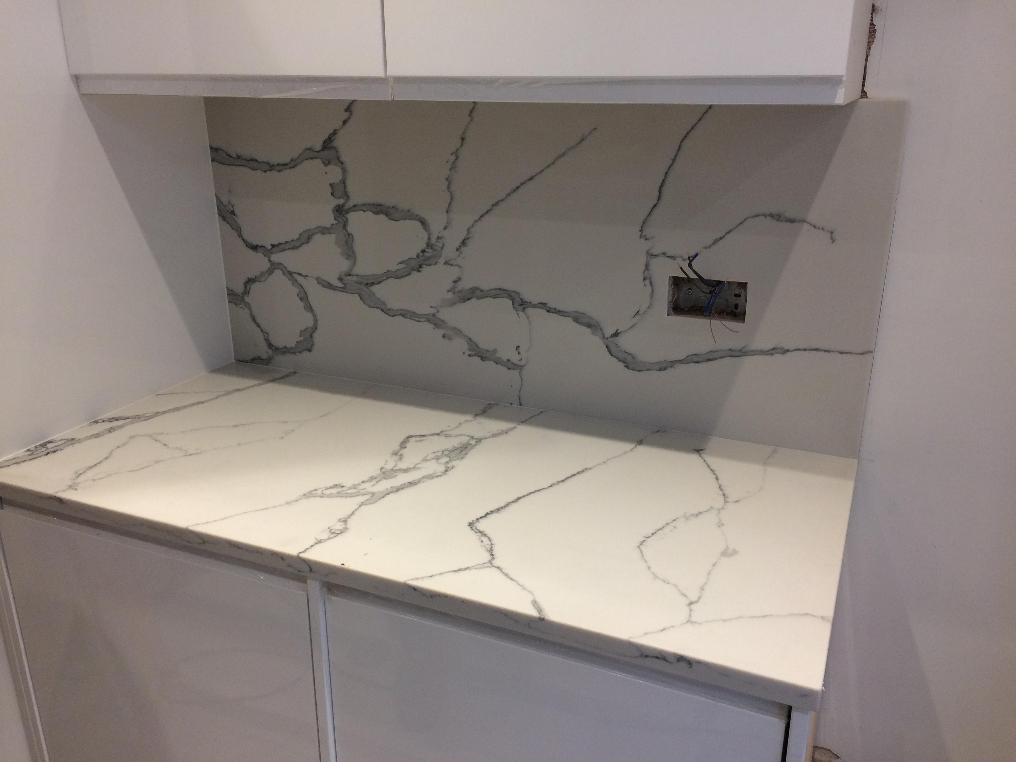 Statuario Quartz Kitchen top (7)