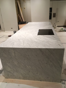 Goia leather marble 70mm edge plus side panel and recessed sinkIMG_9776