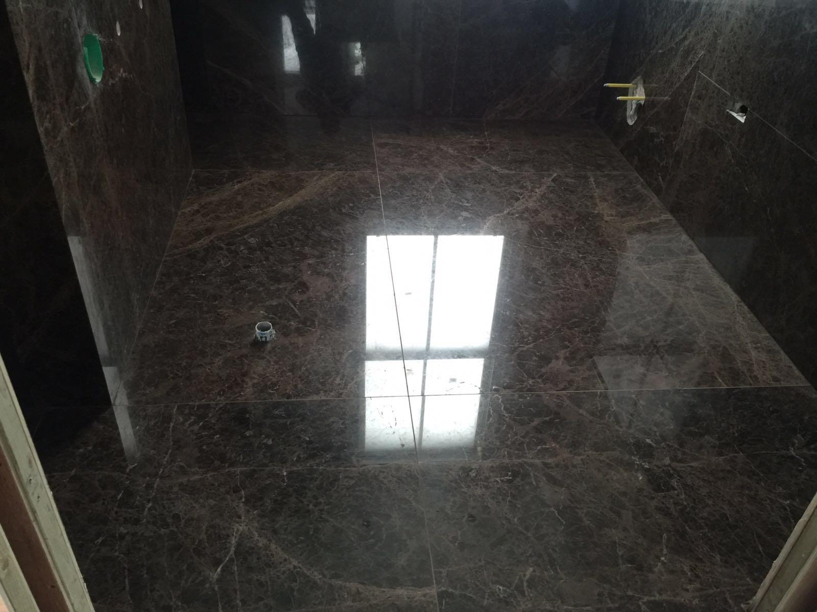 Emperador Dark bathroom cladding  (2)