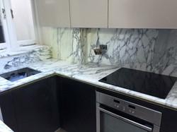 Arabescato marble kitchen worktop in London  (5)