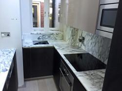 Arabescato marble kitchen worktop in London  (3)