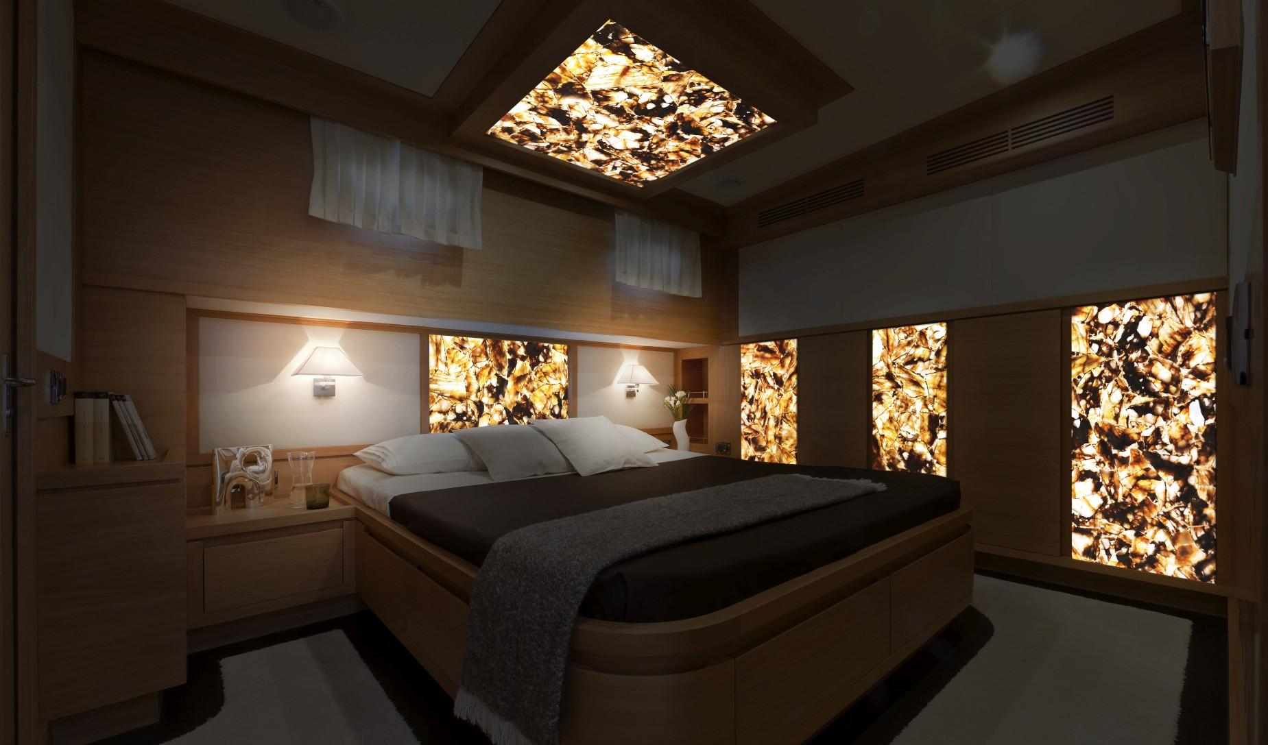 quartz chocolate backlit interior yacht