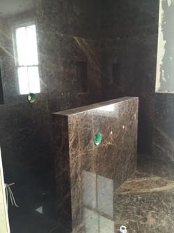 Emperador Dark bathroom cladding  (3)
