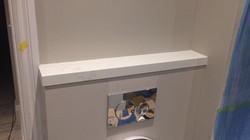 bathroom miterd edge 40mm white weiny quartz  (4)