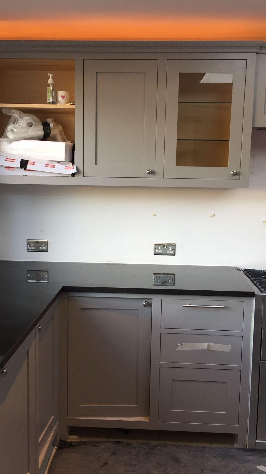kitchen surfaces combined - Black granite plus Staturio island (2)