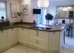 Grey quartz kitchen worktop in London  (2)