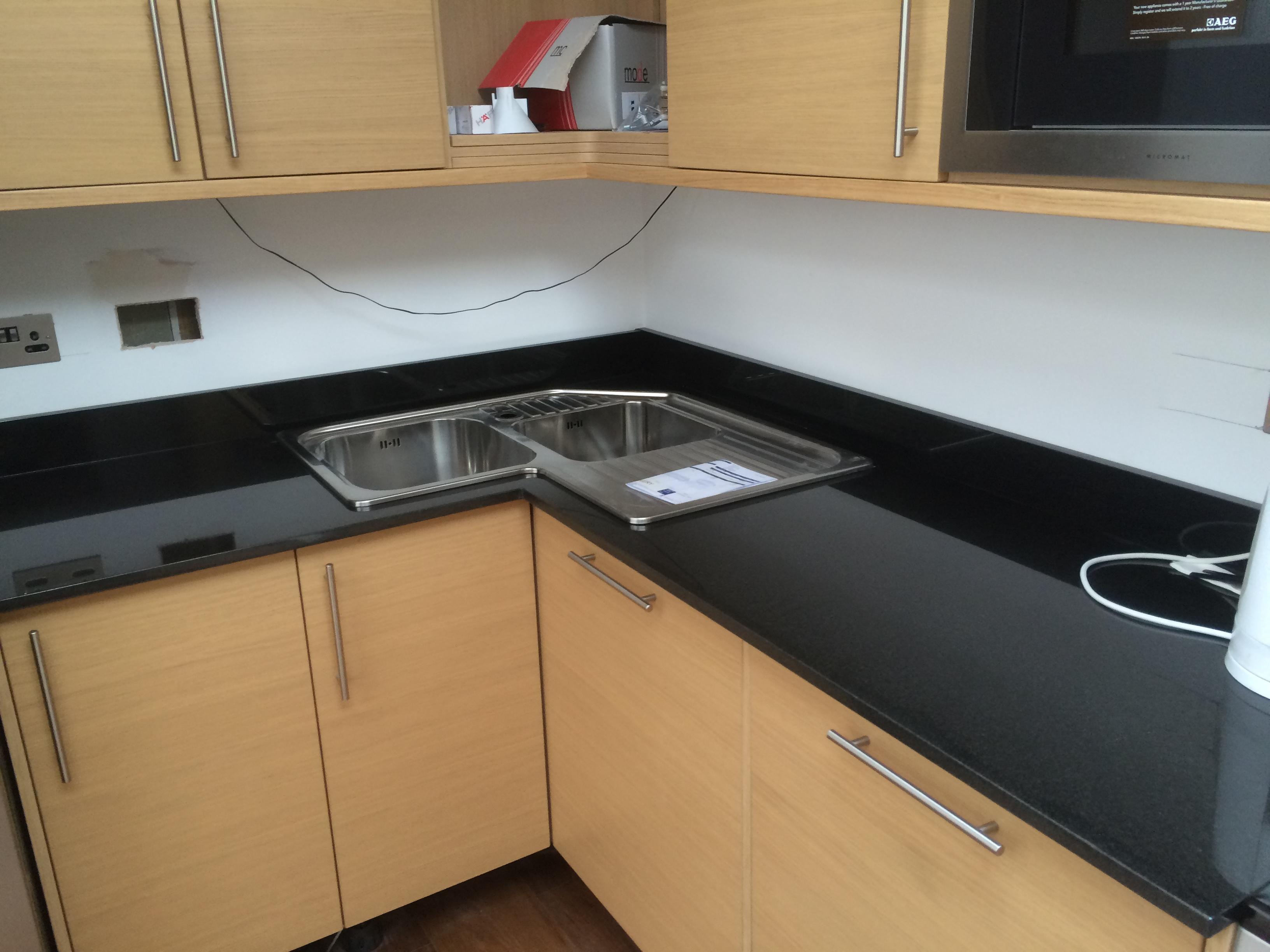 Black Granite kitchen worktop in London (2)