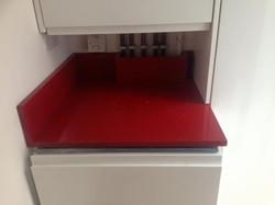 Red quartz kitchen worktop in London (1)