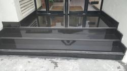 Granite black polish steps in the office building (7)