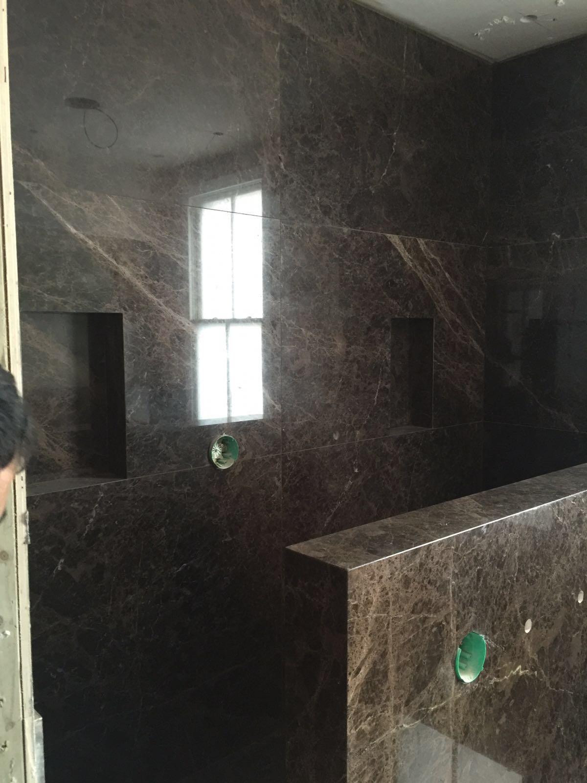 Emperador Dark bathroom cladding  (4)