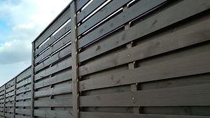 Fence, polisada, brick, wooden fence, br