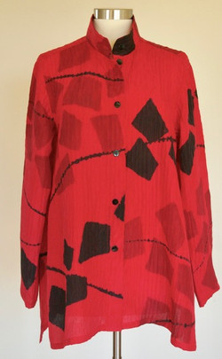 Red Mosaic Blouse
