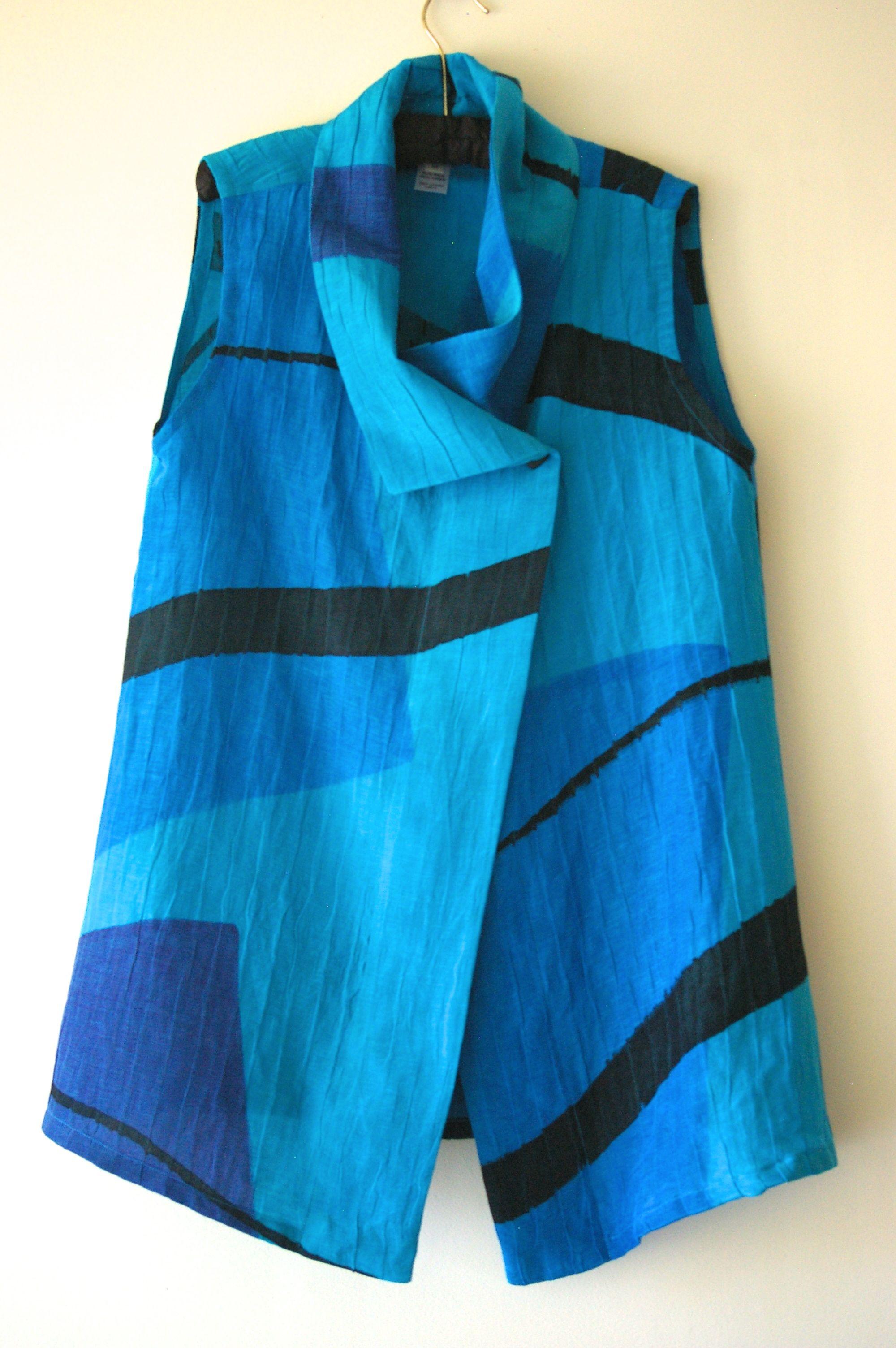 Turquoise Wrap Vest