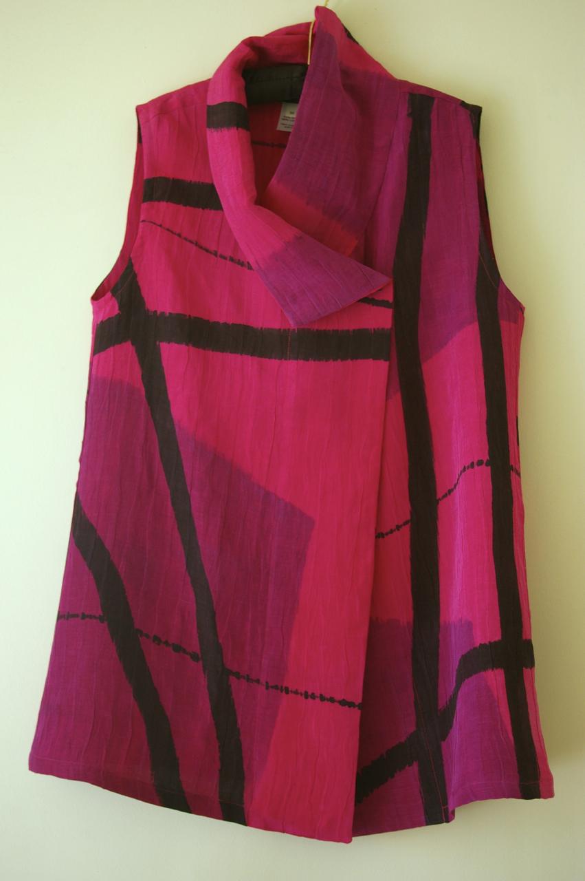 Magenta Wrap Vest
