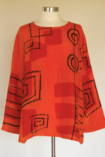 Orange Modernist Tunic