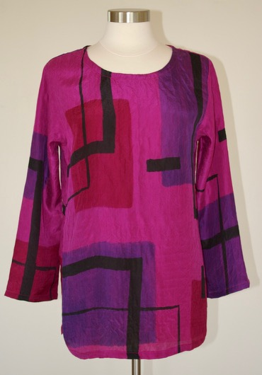 Raspberry Color Block Tunic