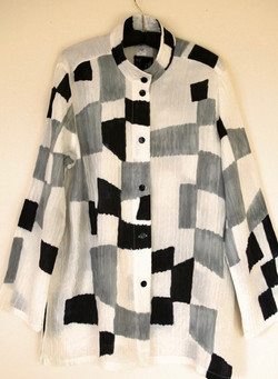 Black and White Angles Blouse