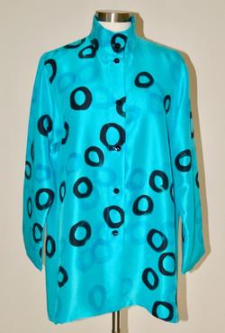Turquoise Fuji blouse