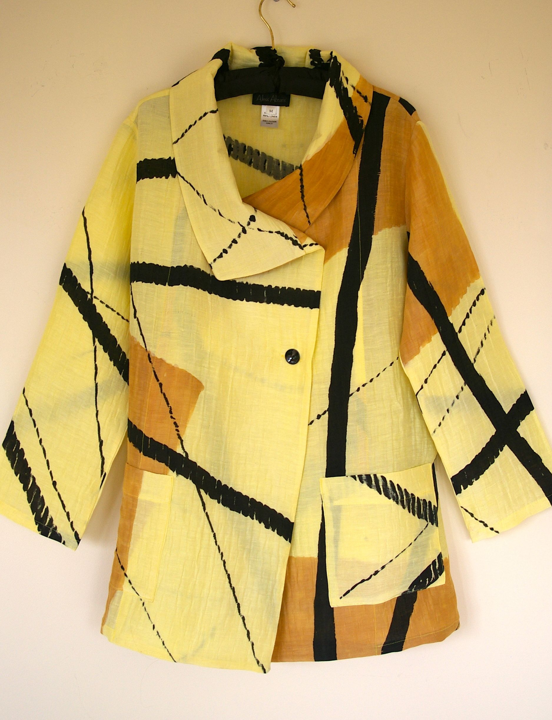 Pale Yellow Wrap Jacket