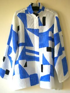 Blue and White Angles Blouse