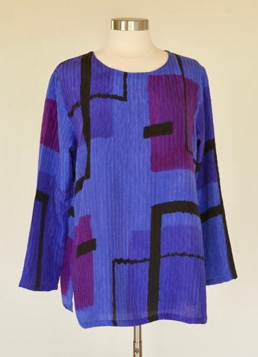 Violet Color Block Tunic