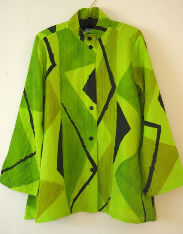 Lime Triangles Blouse