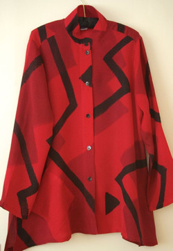 Red Triangles Blouse