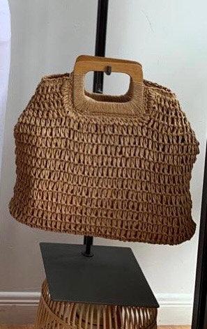 Rectangular Handle Tote Bag