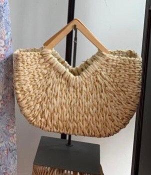 Triangular Handle Tote Bag