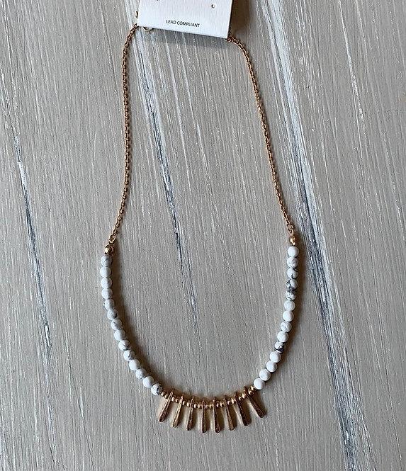 White Dot Necklace