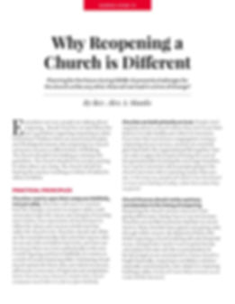 Why Reopening a Church is Different - Re