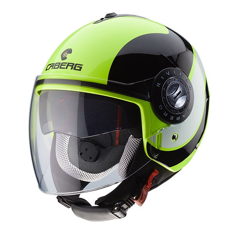 Caberg Riviera V3 Sway Openface Helmets Fluo/Black