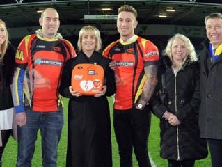 Hillsborough Hawks take heart at receiving first 'DJ' defibrillator