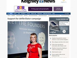 Support for defibrillator campaign