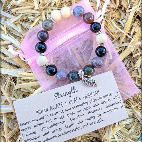 """STRENGTH"" Aroma Diffuser Bracelet"