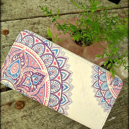Purple & White Mandala Print Wallet
