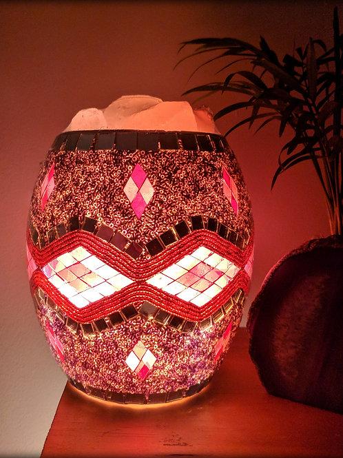 Mosaic Glass Jar Himalyan Salt Lamp