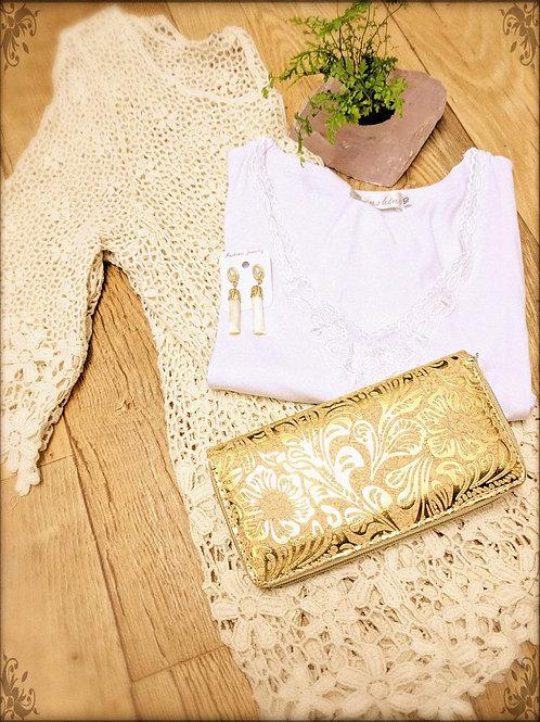 Gold Print Wallet
