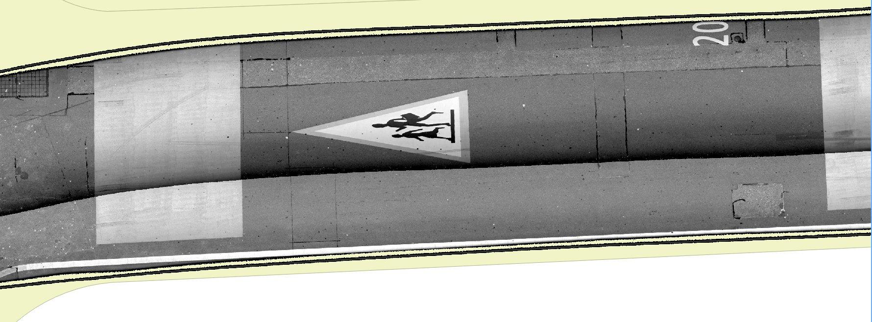 Oberflächenbilder als Orthofoto
