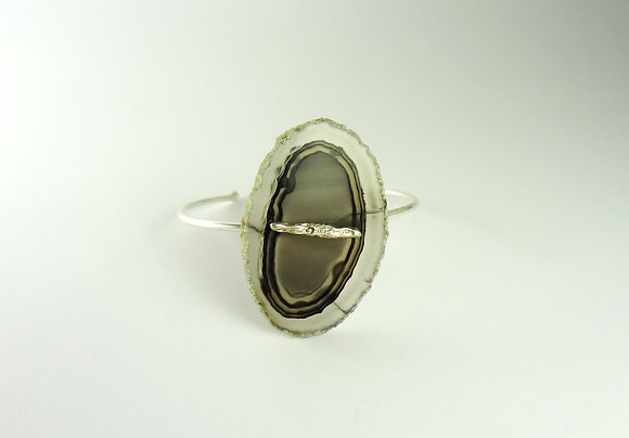 Bracelete ágata cinza